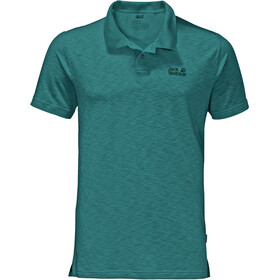 Jack Wolfskin Travel Polo Heren, emerald green